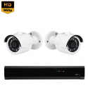 2x Mini IR IP Camera 1080P POE Bekabeld