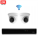 2x Mini Dome IP Camera 2K POE Draadloos