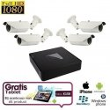4x HD IP IR Camera Set + TABLET