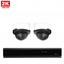 2x Dome IP Camera 2K POE Bekabeld
