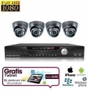 4x Mini Dome Camera Set FULL HD SDI + TABLET