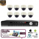 8x Dome Camera Set 720P HD + TABLET