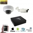 2x HD IP IR Dome Camera Set
