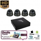 4x HD IP Dome Camera Grijs Set + TABLET
