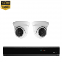 2x Mini Dome IP Camera 1080P POE Bekabeld