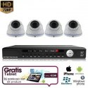 4x Dome Camera Set Wit 720P HD + TABLET