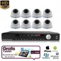 8x Dome Camera Set Wit 720P HD + TABLET