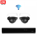 2x Dome IP Camera 2K POE Draadloos