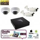 4x HD IP IR Dome Camera Set + TABLET