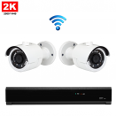 2x Mini IR IP Camera 2K POE Draadloos