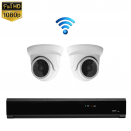 2x Mini Dome IP Camera 1080P POE Draadloos