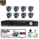 8x Mini Dome Camera Set 720P HD + TABLET