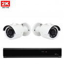 2x Mini Dome IP Camera 2K POE Bekabeld