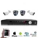 4x IR Dome Camera Set PREMIUM