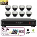 8x Dome Camera Set HD SDI + TABLET