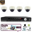 4x Dome Camera Set 720P HD + TABLET