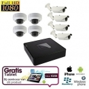 8x HD IP IR Dome Camera Set + TABLET