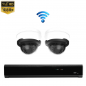 2x Dome IP Camera 1080P POE Draadloos