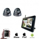 2x Draadloze Dome Camera LCD DVR
