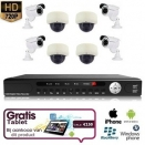 8x IR Dome Camera Set 720P HD + TABLET