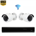 2x Mini IR IP Camera 1080P POE Draadloos