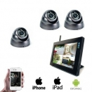 3x Draadloze Dome Camera LCD DVR