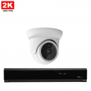 1x Mini Dome IP Camera 2K POE Bekabeld