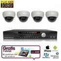 4x Dome Camera Set HD SDI + TABLET