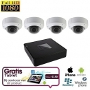 4x HD IP Dome Camera Set + TABLET