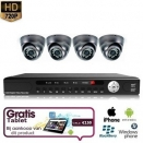 4x Mini Dome Camera Set 720P HD + TABLET