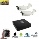 2x HD IP IR Camera Set