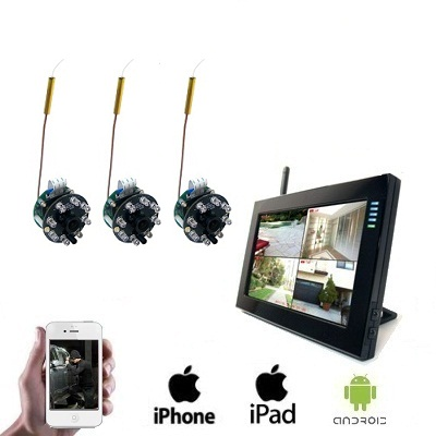 3x Draadloze Spy Camera LCD DVR