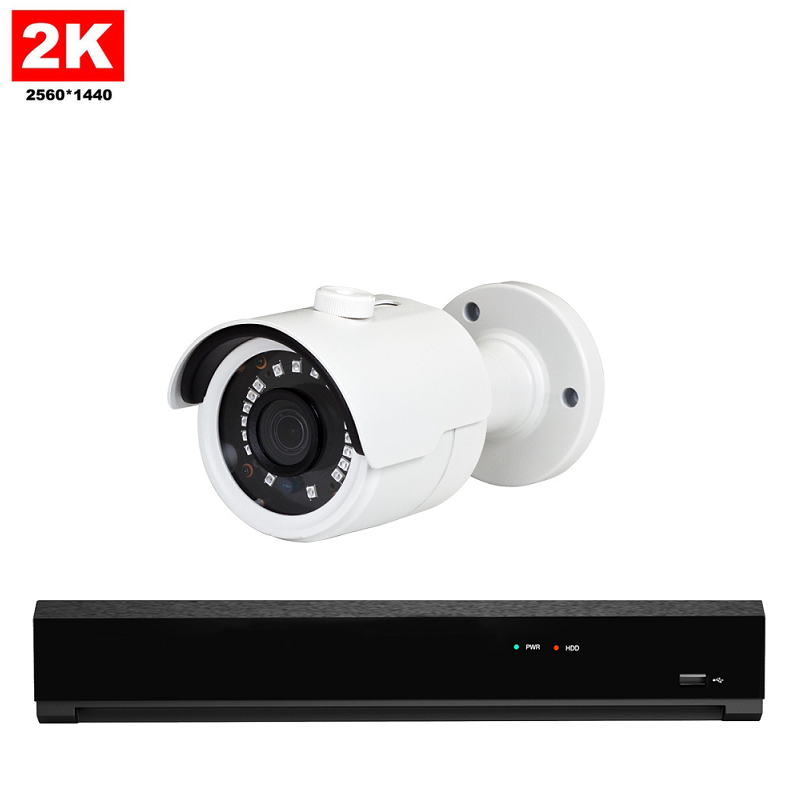 1x Mini IR IP Camera 2K POE Bekabeld