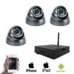 3x Draadloze Dome Camera DVR