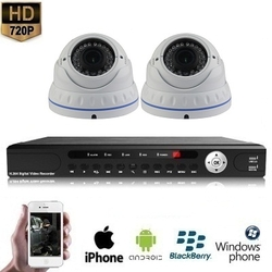 2x Dome Camera Set Wit 720P HD